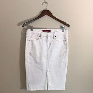 Levi's Jeans White Denim Pencil Skirt Front Slit